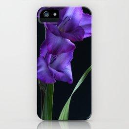 Ultra Violet Gladioli iPhone Case