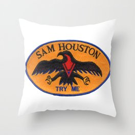 USS SAM HOUSTON (SSBN-609) AND (SSN-609) PATCH Throw Pillow