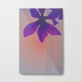 Hypereal Sunrise Florals (1) Metal Print