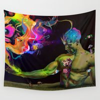 archan nair Wall Tapestries featuring Alchemy Resonance by Archan Nair