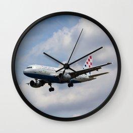 Croatia Airlines Airbus A319 Wall Clock