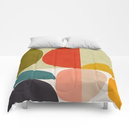shapes of mid century geometry art Comforters