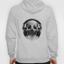 Alien Skull Listening to Music on Pro Beats Hoody