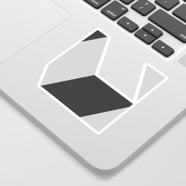 Cubism Black and White Sticker
