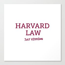 Harvard Law Canvas Print