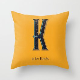 K is for Knob. Throw Pillow