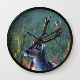 Stag Leader of the Herd 1 Wall Clock