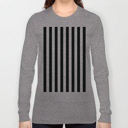 Parisian Black & White Stripes (vertical) Long Sleeve T-shirt