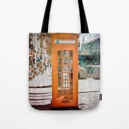 Phone booth Tote Bag