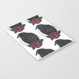 Raven Rose - coracrow Notebook
