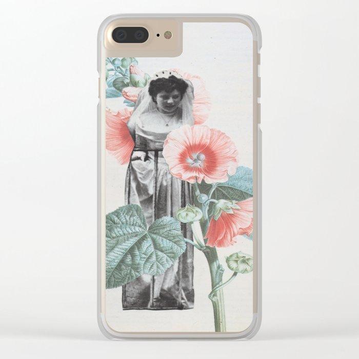 Botanical Bride Clear iPhone Case