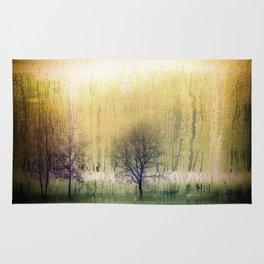 rainy forest Rug