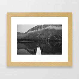 Alpine lake Bohinj, Slovenia. 2016. Triglav national park Framed Art Print