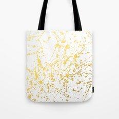 Splat White Gold Tote Bag