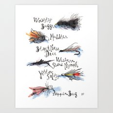 Fishing Flies Art Print