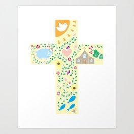 Beautiful Ornate Cross Art Print