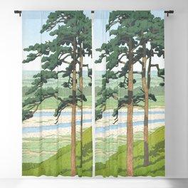 Hasui Kawase, Ruins Of Takiyama Castle, Tokyo - Vintage Japanese Woodblock Print Art Blackout Curtain