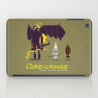 aragorn iPad Cases featuring Pixel Art Lord Of The Rings by LoweakGraph