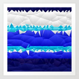 Nautical Inspired Quilted Pattern Design Art Print