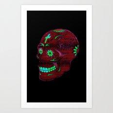Grunge Skull Art Print