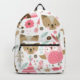 Pink Boho Animals Backpack