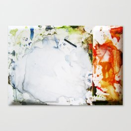 Watercolor fun mess Canvas Print