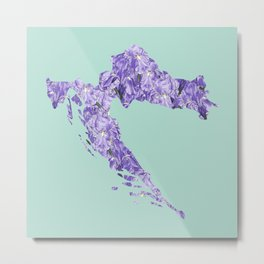 Croatia in Flowers Metal Print