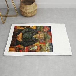 Van Gogh, Portrait of Père Tanguy  – Van Gogh,Vincent Van Gogh,impressionist,post-impressionism,brus Rug
