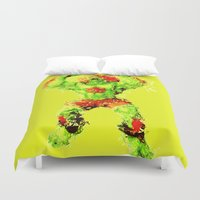 street fighter Duvet Covers featuring Street Fighter II - Blanka by Carlo Spaziani