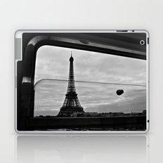 Eiffel Tower through window Laptop & iPad Skin