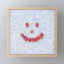 Strawberry Smile Framed Mini Art Print