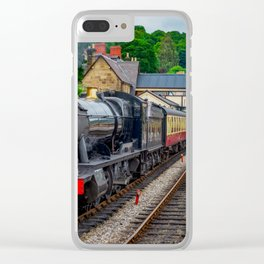 Steam Locomotive Wales Clear iPhone Case