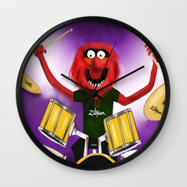 Animal Drummer Wall Clock