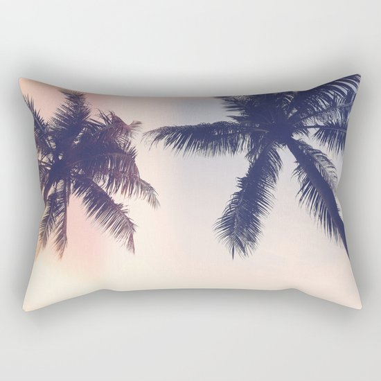 Palm trees Pastel Rectangular Pillow