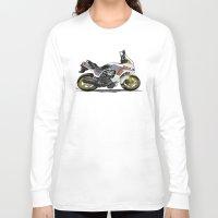 honda Long Sleeve T-shirts featuring 1982 Honda CX500TC Turbo by Saddle Bums