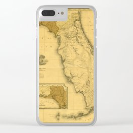 Florida 1823 Clear iPhone Case
