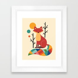 Rainbow Fox Framed Art Print