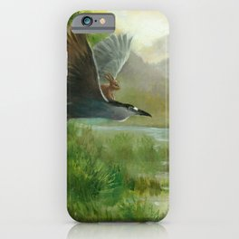 Isabella and the Night Heron iPhone Case