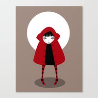 red riding hood Canvas Prints featuring Little Red Riding Hood by Volkan Dalyan