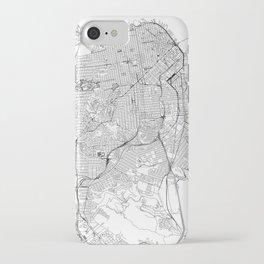 San Francisco White Map iPhone Case
