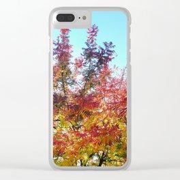 Fiery Autumn Clear iPhone Case