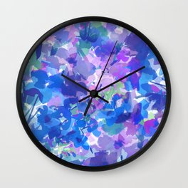 Spring Blues Wall Clock
