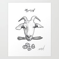Billy Goat Gruff Art Print