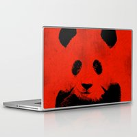 red panda Laptop & iPad Skins featuring Red Panda by Laura Brightwood