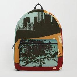 New York City Skyline NYC Retro Vintage Design  Description Backpack
