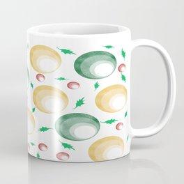 Christmas Balls and Holly Print Coffee Mug