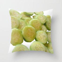 Cucumber Quarters Throw Pillow