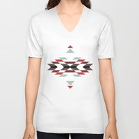 navajo V-neck T-shirts featuring NAVAJO PRINT by peanutbuttajennie