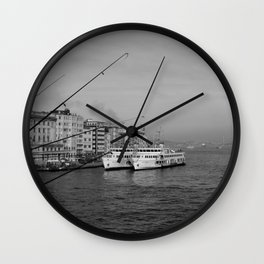 Bosphorus view from Galata Bridge Wall Clock