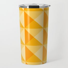 Geometric Prism in Sunshine Yellow Travel Mug